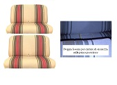 2809R - Kit rivestimenti panca ant.+ panca post schienale reclinabile beige righe rosse